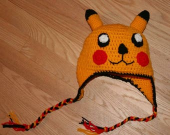 Pikachu Inspired Crochet Hat