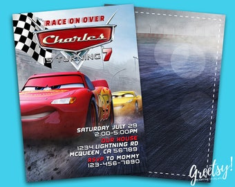 Disney Cars Invitation, Disney Cars Birthday, Disney Cars Party, Disney Cars Invites, Disney Cars Printables, Cars Movie Invite, Disney Cars