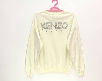 Rare!! Vintage Kenzo Golf Spellout Embroidery Pullover Jumper Sweatshirt