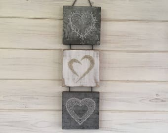 Silver wedding anniversary, heart art, love gift, Wedding present, girlfriend, wife, 25th, housewarming,valentines gift .