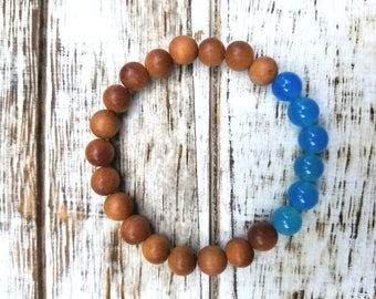 Blue Agate & Sandalwood