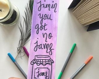 jimin BTS inspired bookmark