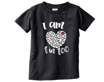 CHD Awareness| I am 1 in 100 unisex kids tshirt