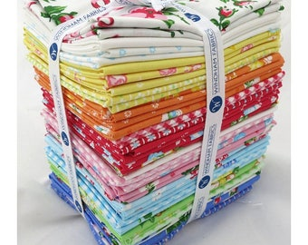 Free Shipping!!! First Blush 33 Fat Quarters Bundle by It's Sew Emma for Windham Fabrics , Fat Quarter Bundles - Precuts - 100% Cotton