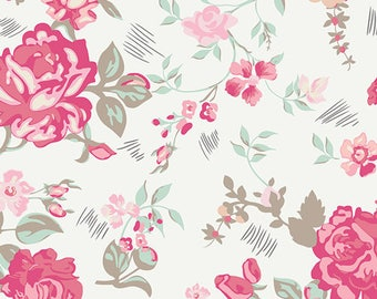 Nostalgic Romance - Le Vintage Chic Capsules Collection by AGF Studio from Art Gallery Fabrics -Vintage Fabric - FloralFabric- Cotton Fabric