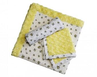 Patty Cakes Swaddle Gift Set Kit Honey Bun,  100% Polyester, Minky Kits, Minky Cuddle Kits, Shannon Kits, Kits