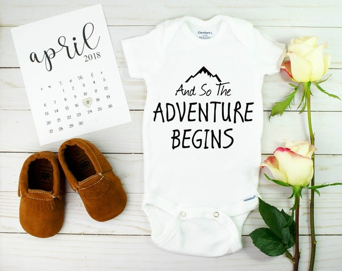 The Adventure Begins Onesie