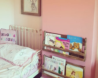 Rustic wooden children's bookcase/book rack/ bedroom storage