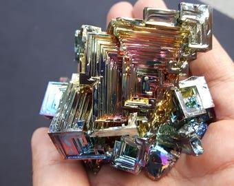 258 Gram Bismuth Crystal Cluster