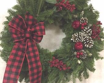Maine Lumberjack Wreath