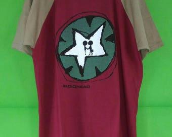 Vintage Radiohead Tour Tshirt Rare