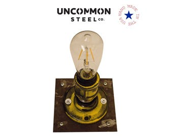 Edison Sconce, Industrial Wall Light, Industrial Wall Sconce, Industrial Lighting, Industrial Light Fixture, Industrial Bathroom, Steampunk