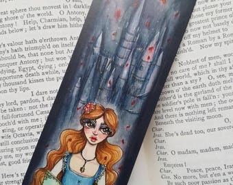 Beauty and the Beast Illustration Fairytale Bookmark