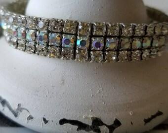Kirks Folly Crystal Slip-On Bracelet