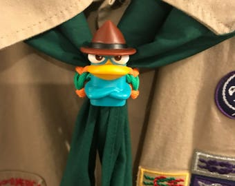 Perry Platypus Themed Scout Neckerchief Slide
