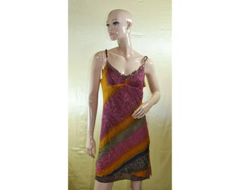 Vintage women dress 100% silk Made in Italy sequins