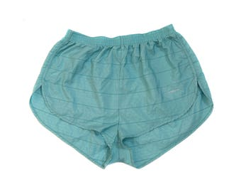 Vintage Adidas ® women shorts pants green blue Made in West Germany