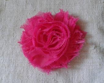 """""""pretty flower brooch in fuchsia cloth"""""""
