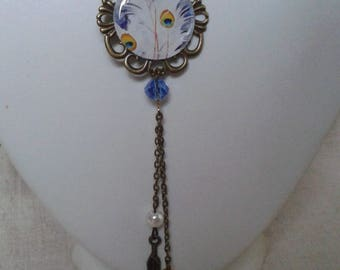 """necklace """"peacock feathers"""""""