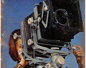 "Kardan Color Film Camera 10"" x 7"" Retro Look Metal Sign"