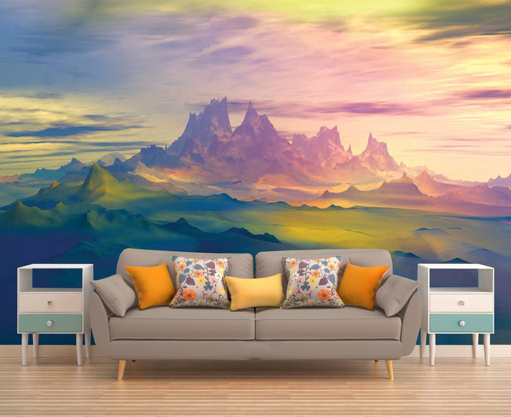 Beautiful Wallpaper Mountain Mural - il_fullxfull  Picture_583823.jpg