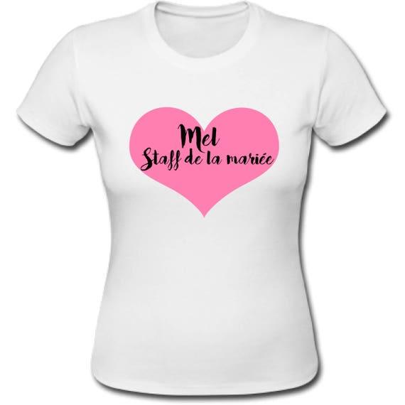 Fabuleux t-shirt evjf personnalisé enterrement de vie de jeune fille DY14