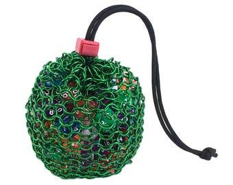 Chainmail Dice Bag - Goblin Green