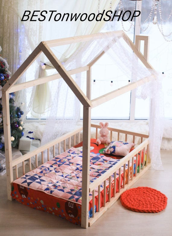kinderbett haus. Black Bedroom Furniture Sets. Home Design Ideas