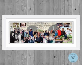 70th birthday gift, Photo  Collage for 70th Birthday,  Photo Montage 70th Birthday, photo collage gift
