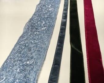 Velvet and lace ribbon