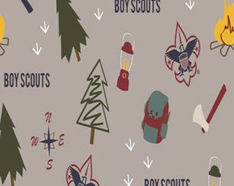 Boy Scouts Printed Fleece Tied Blanket