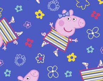 Peppa Pig Stripes Printed Fleece Tied Blanket