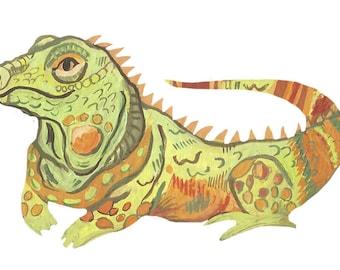 Iguana Vinyl Die-Cut Sticker