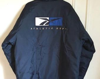 "Jacket / coat / Vintage early 90-00 ""Athletic Dept"" Reebok jacket size L."