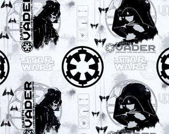 fabric Star wars white Darth Vader Camelot fabric