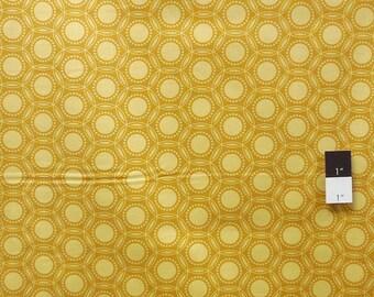 Free Spirit HEIRLOOM mustard yellow patchwork fabric