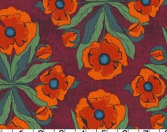 tissu patchwork coquelicots MICHAEL MILLER FLORAL TRIVET