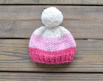 Toddler Hats for Girls, Pom Pom Hats, Pink Beanies, Gifts for Girls, Pom Pom Beanies, Baby Hats for Girls, Baby Beanies, Pink Hats