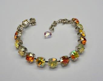 8mm Swarovski Crystal Bracelet Platinum Plated