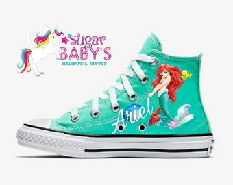 Ariel Mermaid Converse Personalized