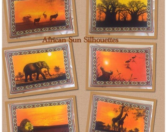 African Sun Silhouette Placemats
