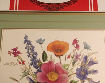 4 Traditional vintage Floral Placemats