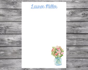 Notepad-Personalized-Flower Bouquet -4x6