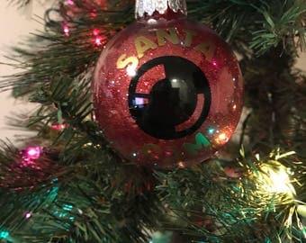 Santa Camera Ornament