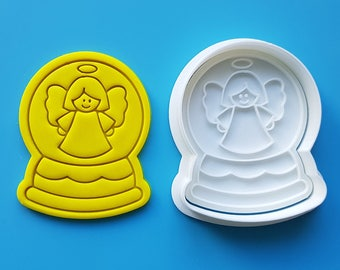 Snow Globe - Angel Cookie Cutter and Stamp