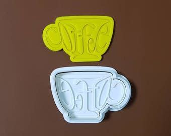 Coffee Cup Cookie Cutter and Stamp