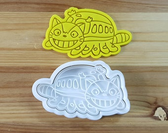 Totoro Cat Bus Cookie Cutter and Stamp