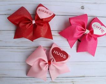 Valentine Cheer Bows