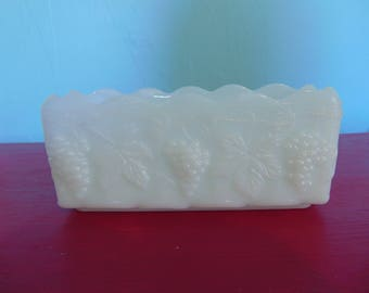 Anchor Hocking Fire King Milk Glass Planter