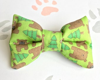 Bear In The Woods Bow Tie